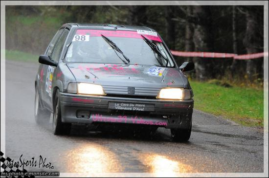 vallée de l'ognon n°98 BILLOT Thomas *PERRIN Clémence 106 Rallye