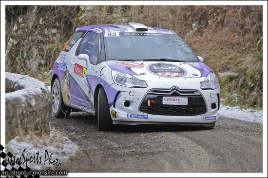 Monte carlo 2013 VUKASOVIC Laurent GROUX Steve DS3 R3T