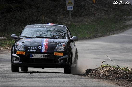 twingo n°76 01 Rallye de Franche comté 2012